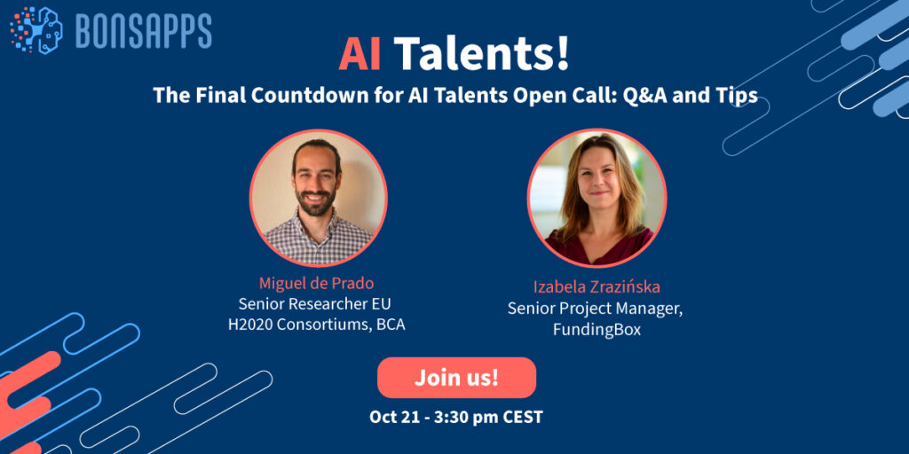 The Final Countdown for AI Talents Open Call: Q&A and Tips